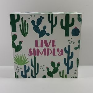 "Live Simply ( Cactus Sign)  5¼"" x 5¼"""